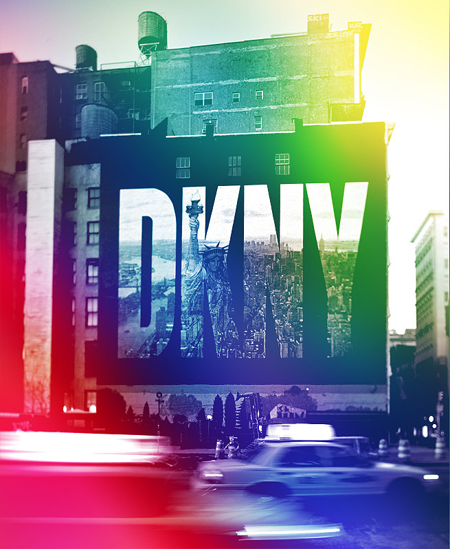 A look at the original DKNY logo mural in New York's SoHo neighborhood, which occupied a wall on Houston Street from 1992 until 2008. Photo courtesy of DKNY