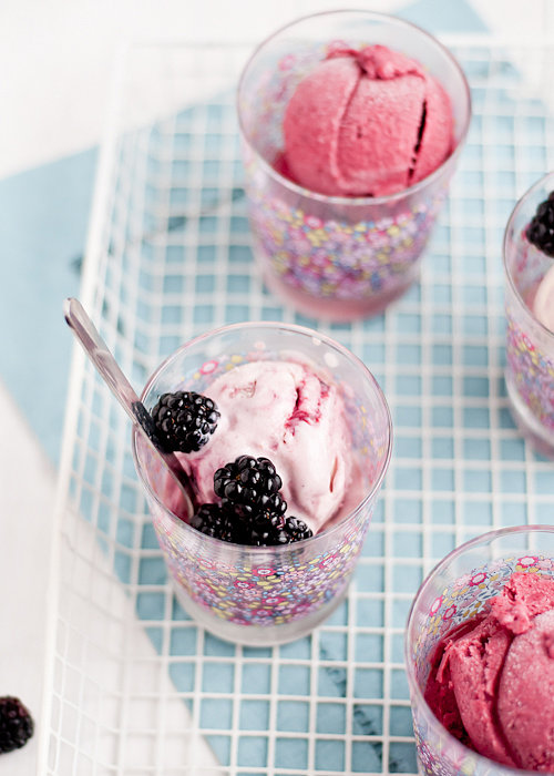 Blackberry Rosewater Ice Cream