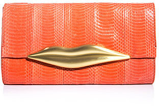 Diane Von Furstenberg Carolina Lips clutch