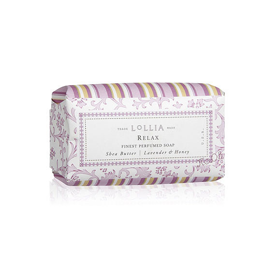 Pretty florals and delicate pastels make Lollia's Shea Butter Soaps ($10) some of the prettiest bars around.