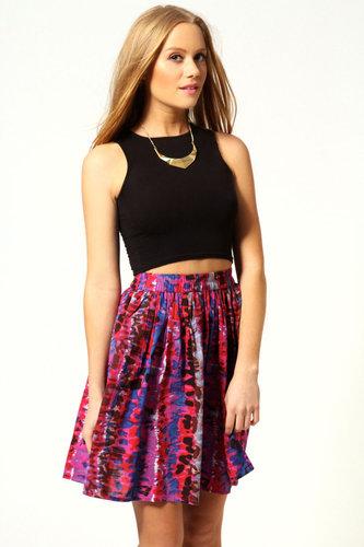 Mel Watercolour Print Circle Skirt