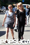 Emma Stone laughed with Andrew Garfield's sister-in-law in NYC.