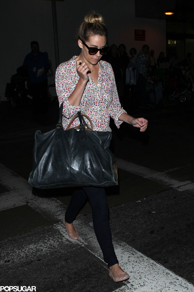 Lauren Conrad arrived at LAX.