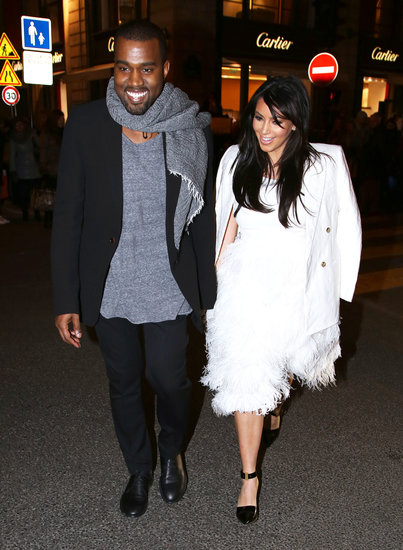 Kim Kardashian and Kanye West attended Paris Fashion Week in January 2013.