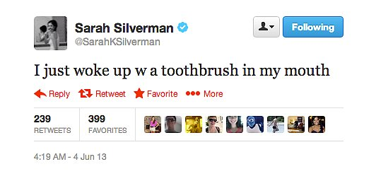 Sarah Silverman definitely knows how to party hard.