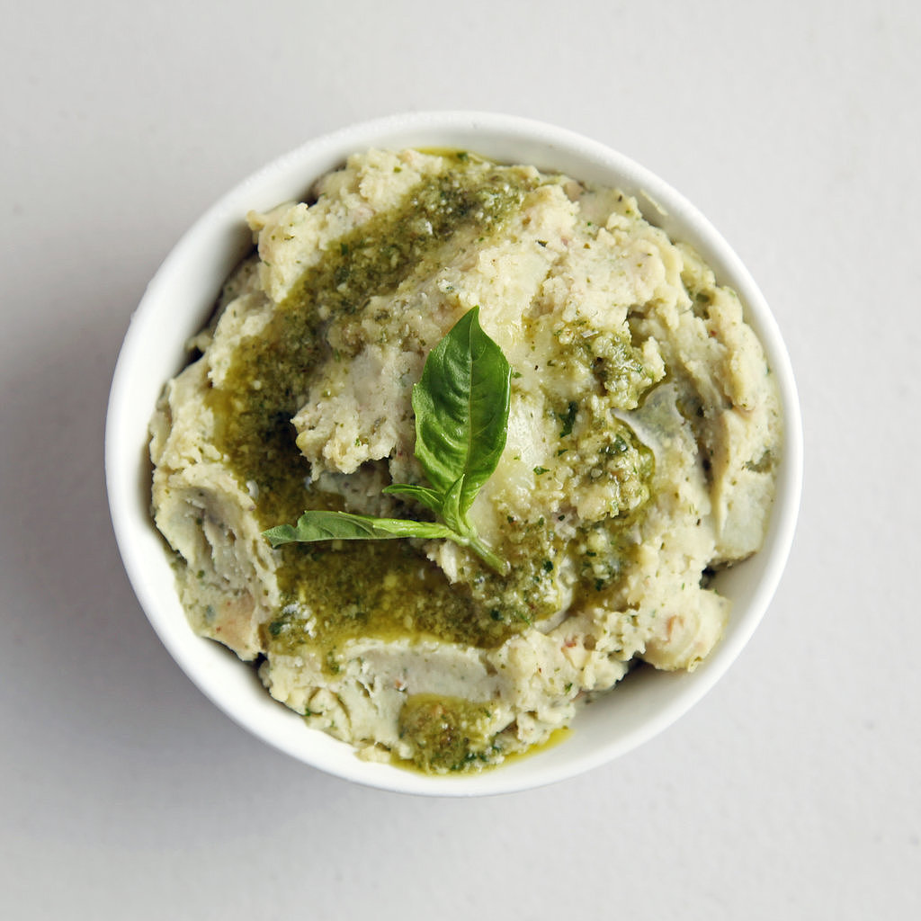 Mashed Potatoes With Basil Pesto