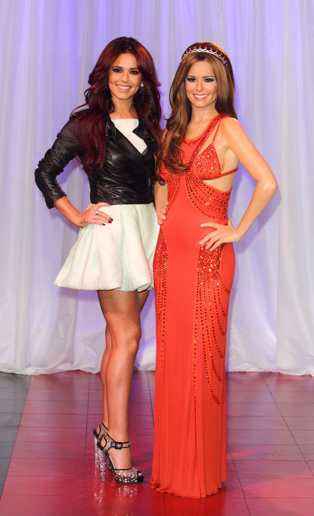 Singer Cheryl Cole encountered her wax figure in NYC back in October 2010.
