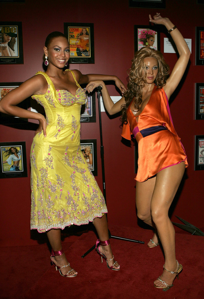 Beyoncé showed off her wax model in the Big Apple in June 2005.