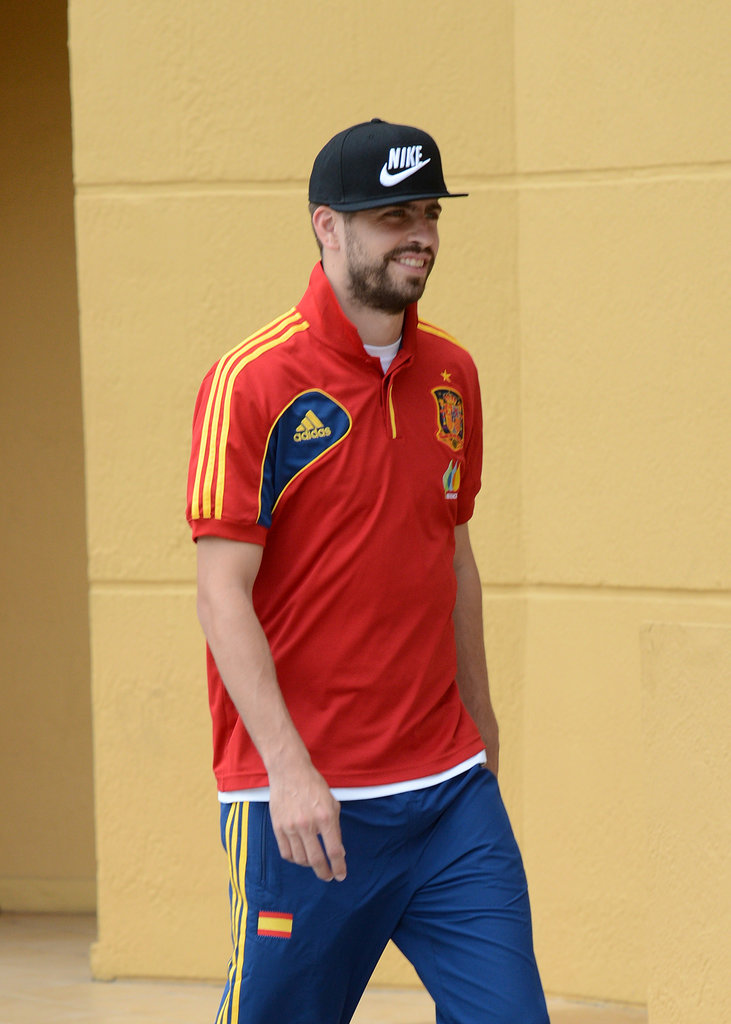 Gerard Piqué was in Miami with Shakira and his son, Milan.