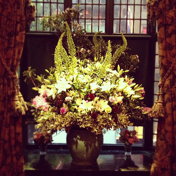 The flowers at the Cartier dinner were almost as stunning as the jewels.