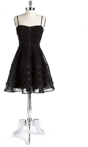 BETSEY JOHNSON Strapless Ruched Dress