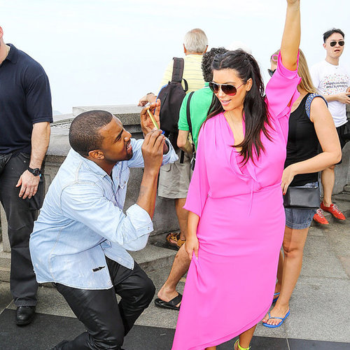 Kim Kardashian Pregnant Pictures Travelling the World