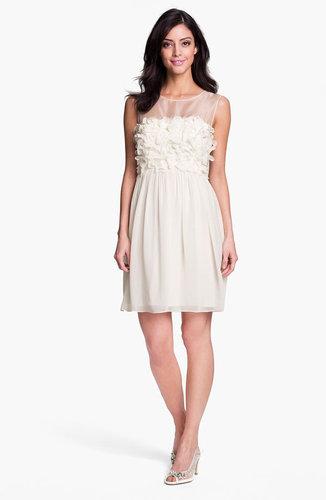 Donna Morgan Embellished Ruffle Chiffon Dress