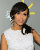 Kerry Washington's flirty and feminine pink blush.