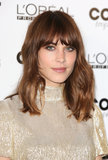 Alexa Chung's '60s chop and neutral makeup.