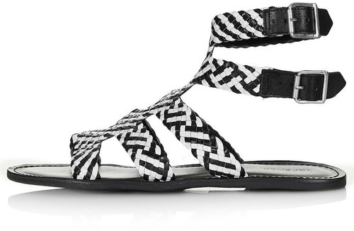HIGHLY Woven Gladiator Sandals