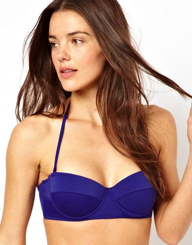 ASOS Mix and Match Longline Bandeau Bikini Top with detachable strap