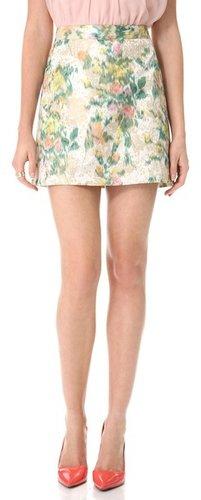 Alice + olivia Riley Floral A Line Skirt