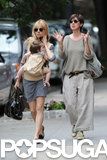 Sienna Miller headed to the flea market with Marlowe Sturridge and Tom Sturridge's mom, Phoebe Nicholls.