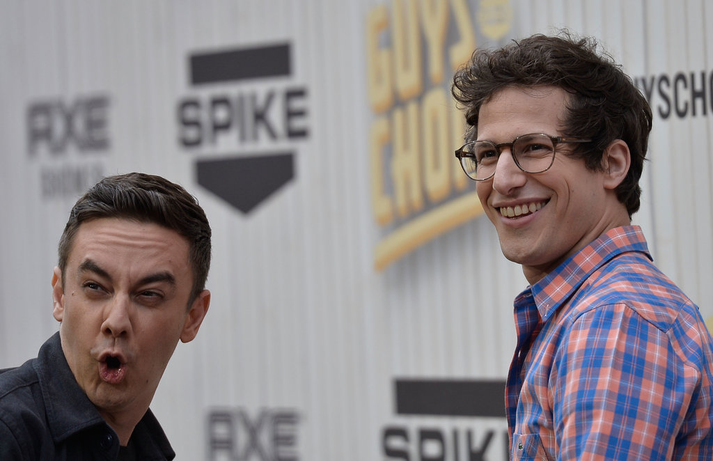Andy Samberg and Jorma Taccone goofed around on the red carpet.