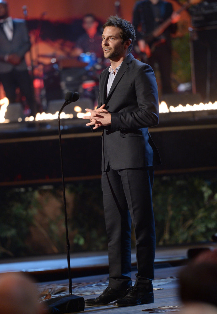 Bradley Cooper spoke on stage at the Guys Choice Awards.