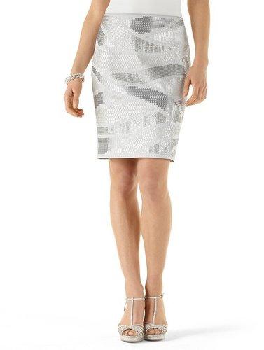 Grey Sequin Skirt