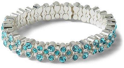 Sea Glass Crystal Stretch Bracelet