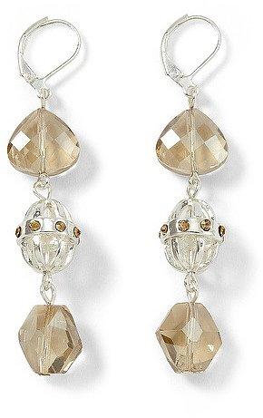 Silvertone Champagne Triple-Drop Earring