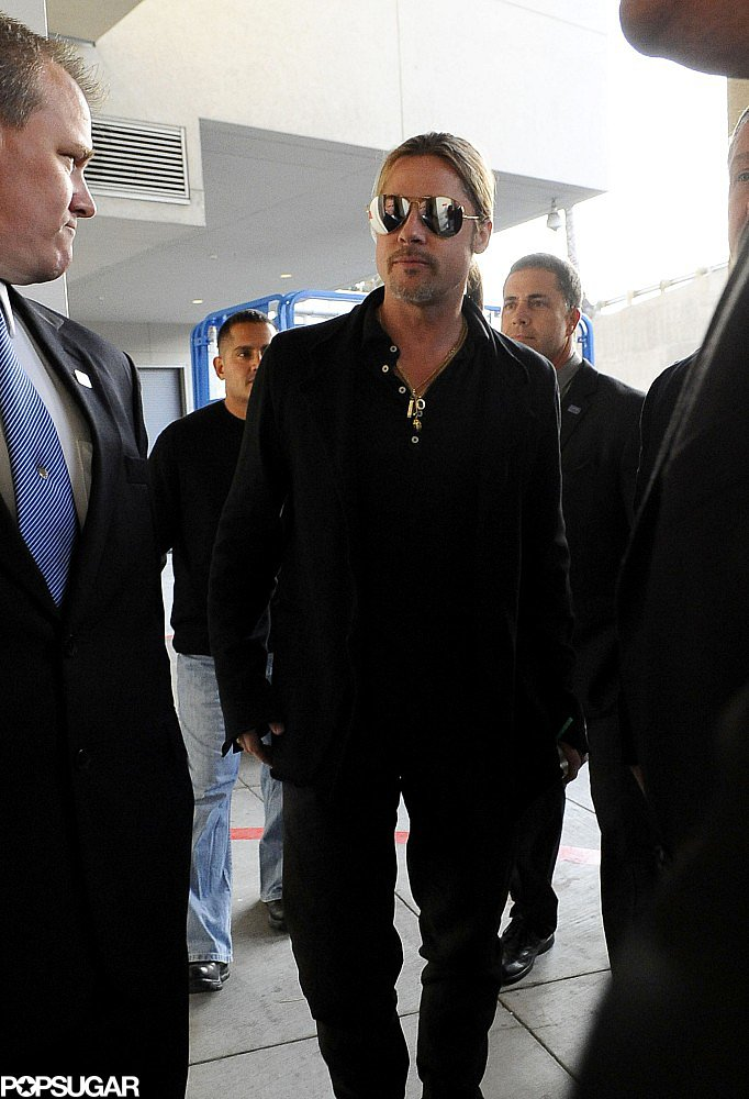 Brad Pitt Brings His Press Tour to Australia With Pax