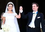 Princess Madeleine of Sweden and Christopher O'Neill celebrated after their ceremony.