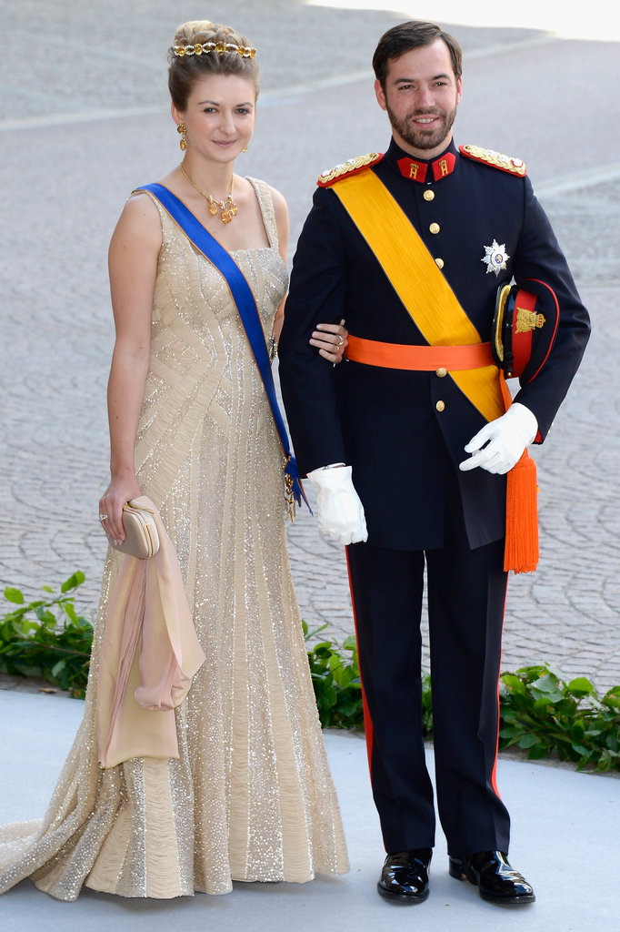 HRH Princess Stéphanie and Prince Guillaume of Luxembourg attended the royal wedding.