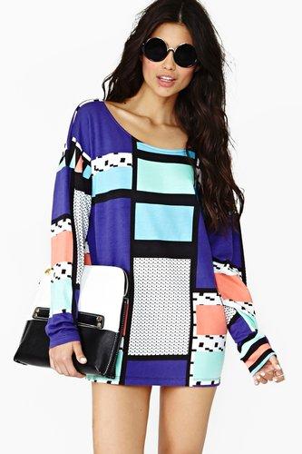 Pattern Play Dress
