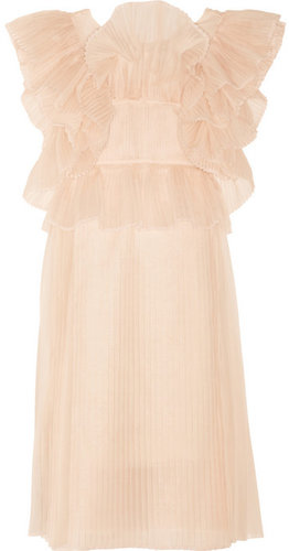 Chloé Ruffled silk-blend organza dress