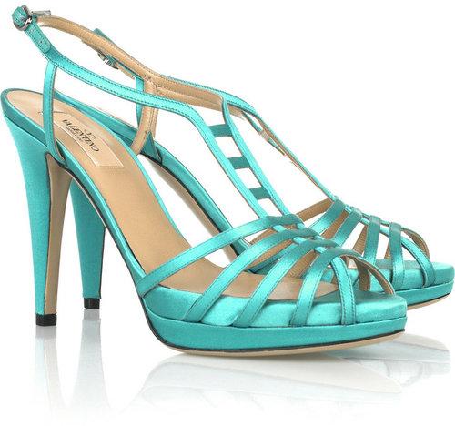 Valentino Basket-strap satin sandals