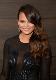 Model Chrissy Teigen wore one of the year's biggest hair trends to the Guys Choice Awards: sideswept waves.