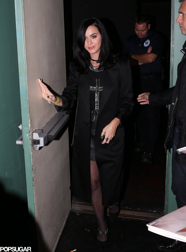 Katy Perry left the Hollywood Palladium after a Björk show.