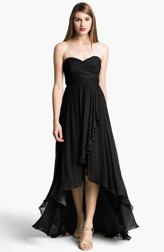 Jenny Yoo 'Shiloh' Strapless High/Low Silk Chiffon Gown