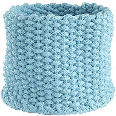 Small Aqua Kneatly Knit Rope Bin