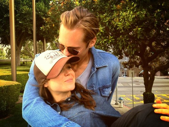 Just Friends? Alexander Skarsgard Cuddles Ellen Page During The East Promotions