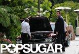 Ben Affleck has car troubles in LA.