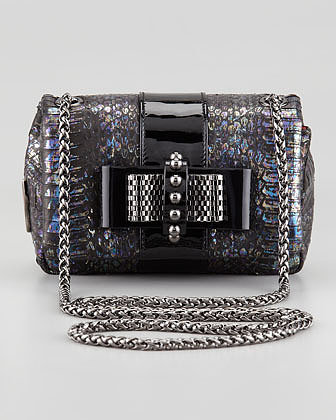 Christian Louboutin Sweet Charity Watersnake Crossbody Bag
