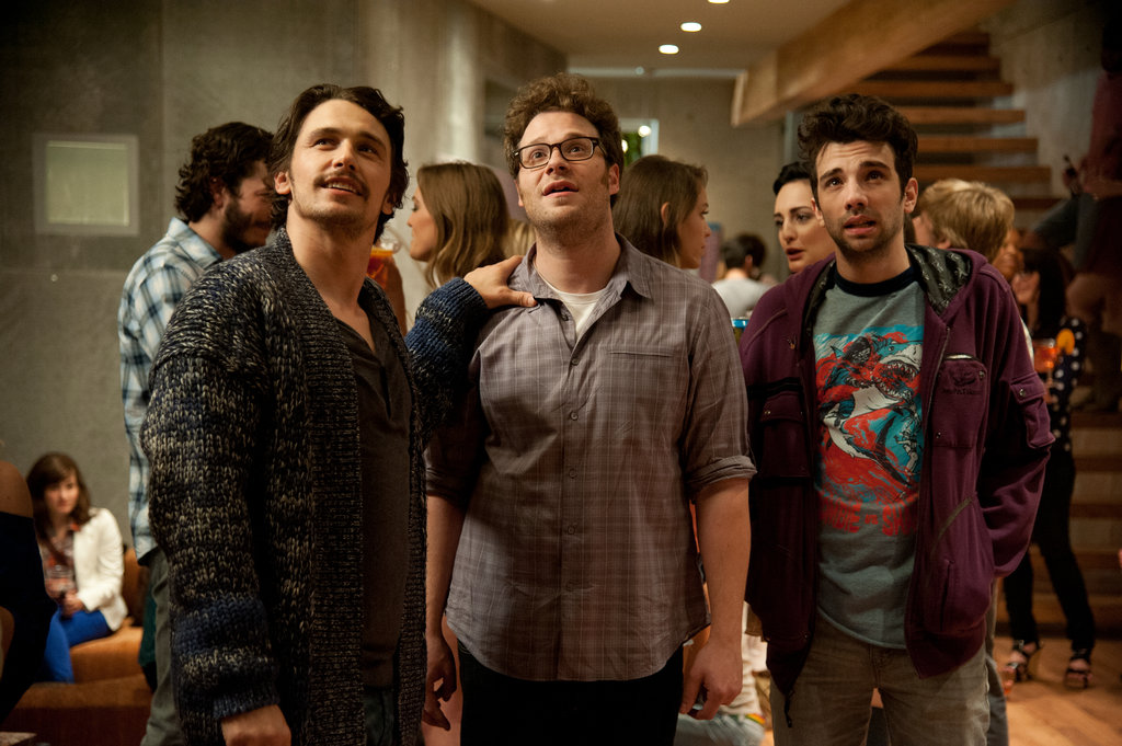 James Franco, Seth Rogen, and Jay Baruchel in This Is the End.