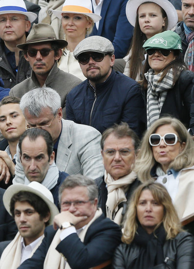 Leonardo DiCaprio watched the French Open finals with Lukas Haas.