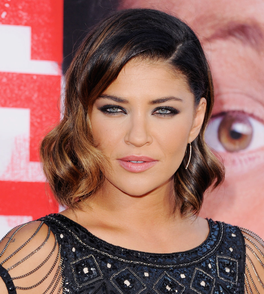 Short hair can sport beachy waves as well, as Jessica Szohr proved here.