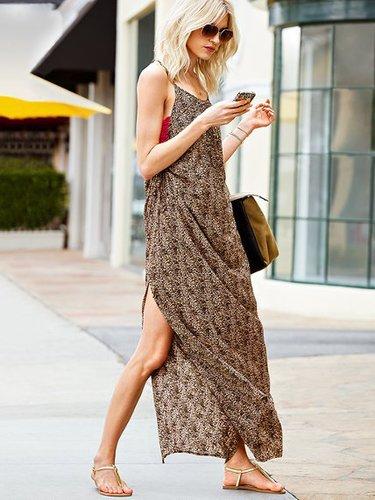 Supermodel Essentials Side-ruched Maxi Dress