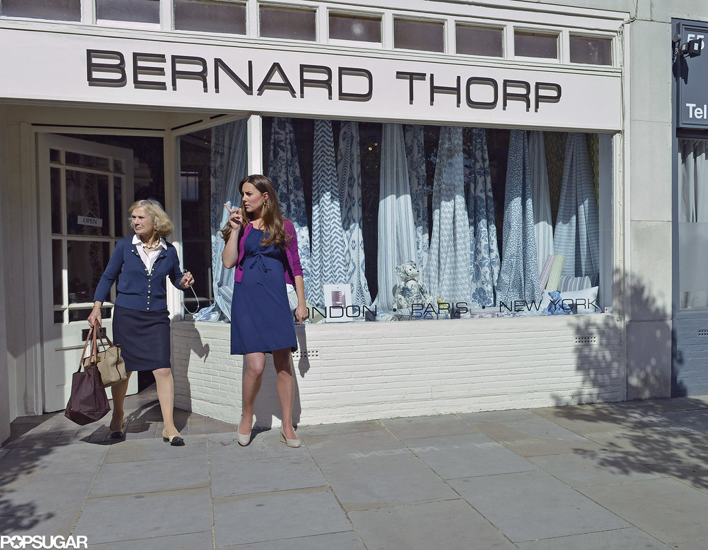 Kate Middleton visited the store with an older friend. Pictures: SIMPSON/BUSHELL