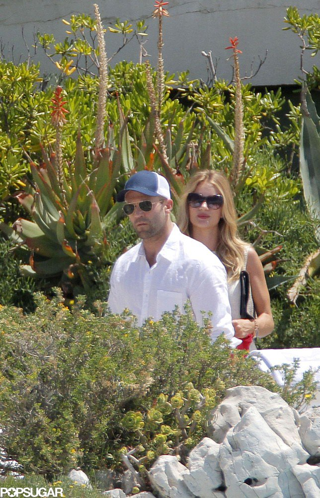 Rosie Huntington-Whiteley and Jason Statham hung out poolside.