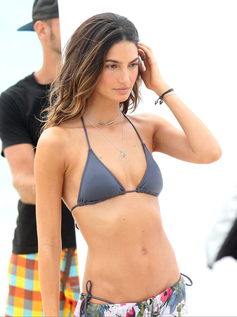 Lily Aldridge's ombré highlights are perfect for Summer; the technique ensures little to no root touch-up is required. Be sure to use SPF in your hair to keep your style looking its best.