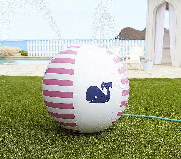 Pink Whale Sprinkler Ball