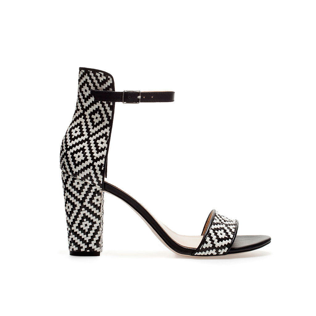 Your perfect Summer party shoe comes in the form of Zara's wide-heel sandal with ankle strap ($80), with its eye-catching beading and walkable heel.